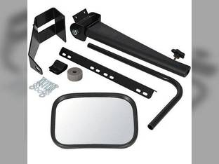 """Tractor Mirror Assembly w/Retractable Arm LH or RH 8"""" x 11"""" Mirror Sound-Guard John Deere 4450 4840 4250 4650 2355 8430 4030 4230 4455 4040 4430 4050 4240 2030 4630 4255 4055 4440 4850 4640 2040 4755"""