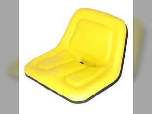 Bucket Seat Deluxe High Back Vinyl Yellow Case John Deere 375 570 4475 3375 MG861683 New Holland L445 L120 L455 L325 L425 L125 L35 L250 L778 L454 LS125 Gehl 3310 3510 3825 Kubota B7300 TY15863