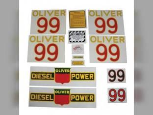 Tractor Decal Set 99 Diesel Mylar Oliver 99