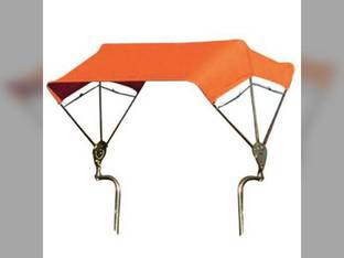 "SNOWCO 3-Bow Tractor Canopy with Frame Fender Mount 40"" - Orange"