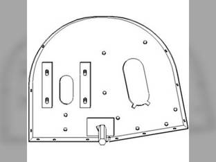 Elevator Head Side Panel - Right Hand Case IH 1660 2144 2366 2166 1644 1666 2344 1682 1670 1640 1321126C1