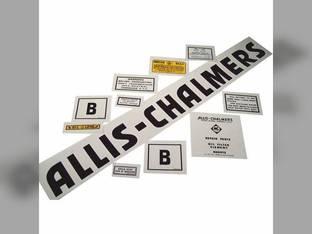 Decal Set B Black Even Letters Mylar Allis Chalmers B