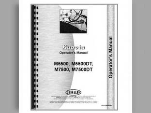 Operator's Manual - M5500 M5500DT M7500 M7500DT Kubota M7500 M7500 M7500 M5500 M5500 M5500