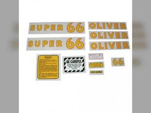 Tractor Decal Set Super 66 Mylar Oliver Super 66