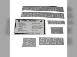 Tractor Decal Set 50 Vinyl Massey Harris 50