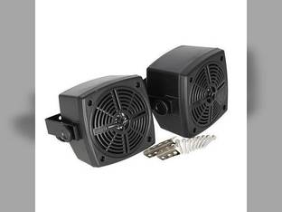 "Radio Speakers in Weatherproof Black Housings 4"" Set of 2"