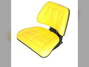 Seat Assembly Trapezoid Backed Vinyl Yellow