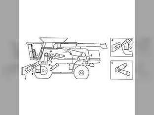 Belt - Separator Fan John Deere 9450 9650 9550 SH 9650 CTS 9410 9610 9400 9550 H152180
