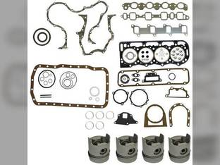 """Engine Rebuild Kit - Less Bearings - .020"""" Oversize Pistons Ford 7610 755B 268T 7710 7600 755 A62 755A 7700 BSD444T"""