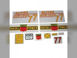 Tractor Decal Set 77 Row Crop Diesel Yellow Mylar Oliver 77