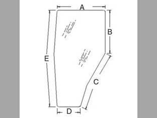 Cab Glass - RH Door Tinted Kubota M4900 M5700 M6800 M8200 M9000 3A751-70670