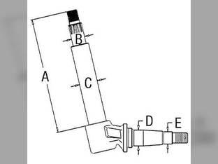 Spindle-RH/LH Case 930 1030 730 830 A57512