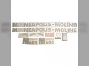 Tractor Decal Set M604 Vinyl Minneapolis Moline M604