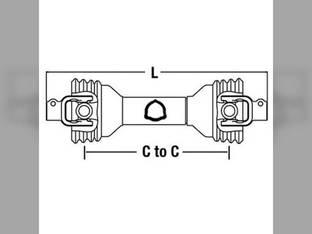 "Universal PTO Driveline 1-3/8"" 6 John Deere Vapormatic Drive-Line 1400 PM14006135 14006135 VTE1008"