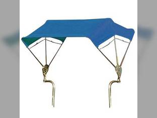 """SNOWCO 3-Bow Tractor Canopy with Frame Fender Mount 40"""" - Blue"""