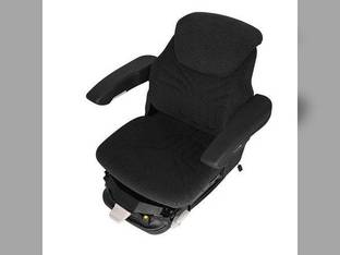 Seat Assembly - Air Suspension Fabric Black/Gray Massey Ferguson John Deere 6500 7520 Case IH 7240 7220 7130 7140 7230 7120 7150 7110 McCormick New Holland White Allis Chalmers Case Deutz AGCO Kubota