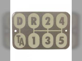 Transmission Shift Pattern Plate International 660 560 504 460 2606 340 2504 606 371371R1