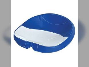 Pan Seat Tie On Cover Vinyl Blue & White Ford 4600 2600 900 4100 3100 3000 5200 2610 6600 4400 801 800 3500 4130 7600 5600 600 5700 2000 3600 601 7700 2110 6700 700 4140 4140 4000 5000 2100 335 7000