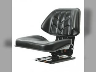 Seat Trapezoid w/Adjustable Suspension Black Talon 512 Series Vinyl Black Utility Tractors