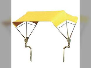 """SNOWCO 3-Bow Tractor Canopy with Frame Axle Mount 48"""" - Yellow"""