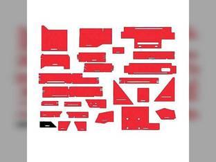 Cab Foam Kit less Headliner Red Vinyl & Black Basket Weave White 4-270 4-225
