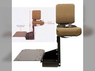 Side Kick Seat Fabric Brown John Deere 8200 8010 8420 8110 8410 8300 8320 8020 8020 8400 8120 8100 8210 8310 8220