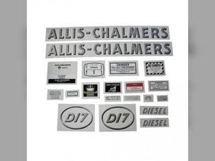 Decal Set D17 Diesel w/Oval Model Letters Mylar Allis Chalmers D17