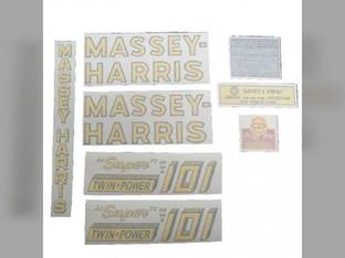 Tractor Decal Set 101 Super Twin Power Vinyl Massey Harris 101
