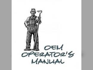 Operator's Manual - B20 Kubota B20