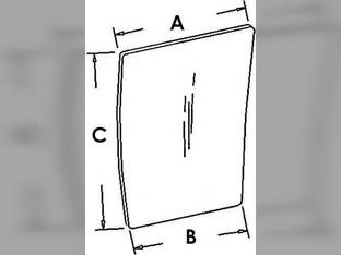 Cab Glass - Lower Front Window RH Case IH 7240 7220 8950 7110 8940 8230 8910 7130 8220 7210 7140 7230 8240 7120 8930 7150 8920 8210 7250 1340197C1