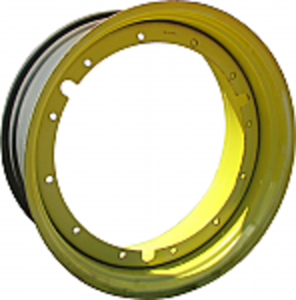 16x38 12 Hole Rear Rim - Yellow