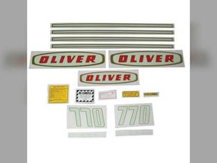 Tractor Decal Set 770 Early Diesel Mylar Oliver 770