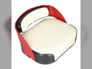 Seat Assembly Vinly White with Black Trim International 660 560 460 372753R91