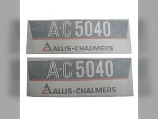 Decal Set 5040 Side Panels Only Vinyl Allis Chalmers 5040