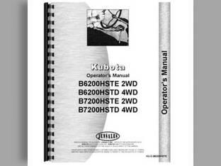 Operator's Manual - B6200HST-D B6200HST-E B7200HST-D B7200HST-E Kubota B7200 B6200