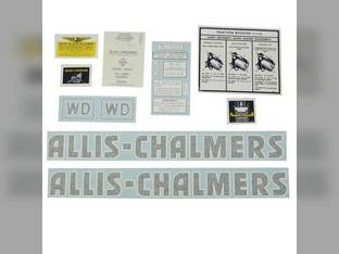 Decal Set WD Black Vinyl Allis Chalmers WD