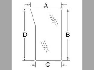 Cab Glass - Windshield Lower LH Kubota M5040 M6040 M7040 M8540 M9540 3C581-70560