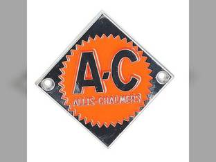 Emblem Orange on Chrome Diamond Allis Chalmers D15 D15 D19 D19 D10 D10 D17 D17 ED40 ED40 D12 D12 D14 D14 D21 D21 70228474 Gleaner E3 E C F A2