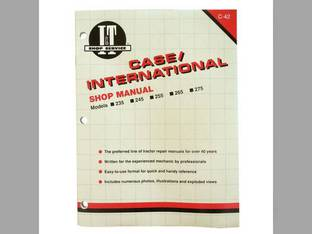 I&T Shop Manual Case IH 275 265 235 255 245 International 275
