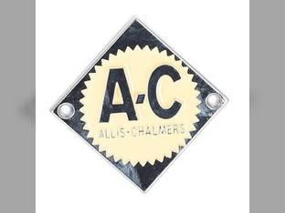 Emblem Cream on Chrome Diamond Allis Chalmers D12 D14 D21 D10 D10 D15 D15 D17 ED40 D19 D19 70233852 Gleaner F K E C E3