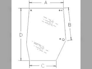 Glass, Door, Right Hand Upper
