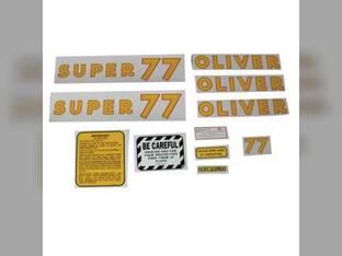 Tractor Decal Set Super 77 Mylar Oliver Super 77
