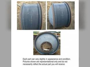 "Used 18"" x 38"" Dual Rear Rim 20 Bolt 11"" Pilot Hole 8.5 Bubble Case IH 2577 2188 2588 2155 2555 2377 2055 2388 129948A1"