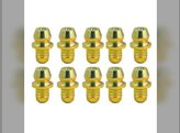 """Grease Fittings- For 3/16"""" Dia. Hole Straight 0.50"""" (10 pcs./Pack)"""