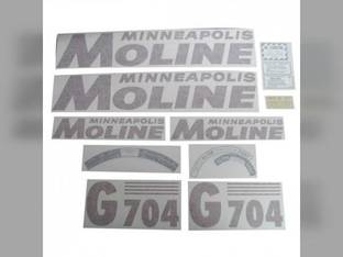 Tractor Decal Set G704 Red Vinyl Minneapolis Moline G704