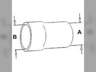 Radiator Hose - Lower International 3288 3088 1252883C1