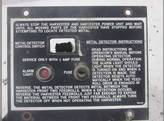 Metal Detector Control Panel