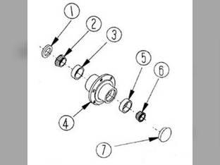 Front Wheel Hub Seal Universal A-7212