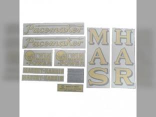 Tractor Decal Set Pacemaker Vertical Fenders Vinyl Massey Harris Pacemaker