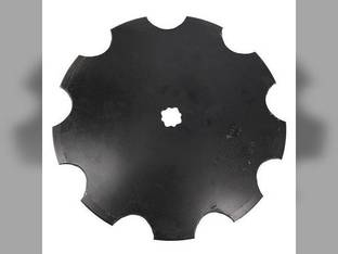 """Disc Blade 18"""" Notched Edge 7 Gauge 1-1/8"""" Square x 1-1/4"""" Square Axle"""